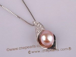 spp074 Wholesale big size bread pearl sterling calycine pendant in low price