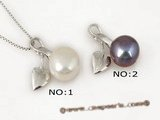 spp100 Sterling silver Apple design pemdat inserted 9-9.5mm Bread pearl