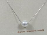 sppd001 14mm with south sea shell pearl neckalce with sterling chain