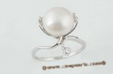 spr041 Gorgeous 925Silver 11-12mm white pearl ring