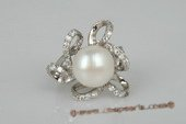 spr106 Sterling silver 11.5-12mm bread pearl designer ring