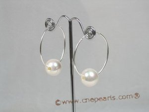 spset031 Shell pearl pendant necklace&earrings set in wholesale