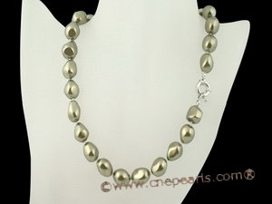 spset049 12*16mm baroque nugget shape shell pearl Princess necklace and earrings on sale