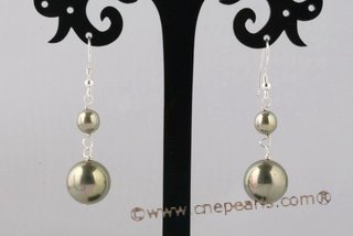 Spset068 Stunning Olivine Round Shell Pearl Bridal Jewelry Set