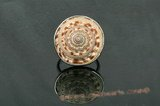 sr010 Silver-toned adjustable mother of pearl shell ring