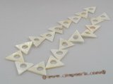 ss004 Five strands 20mm triangle white shell beads wholesale