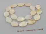ss013  Five strands 25*15mm oval white shell beads strands whole