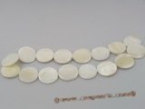 ss014  Five strands 25mm coin shape white shell beads strands wh