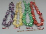 ss036 nugget shape shell strands wholesale, different color
