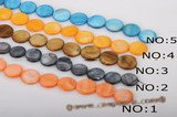 ss040 Five strands 20mm coin shape shell strand in wholesale