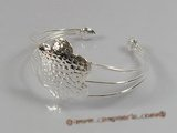 STBR001  flower pattern 925silver Bangle bracelet in wholesale