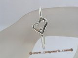 STBR003 classic heart shape pattern 925silver Bangle bracelet