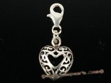 stp018 Classic Heart Charm in Sterling Silver
