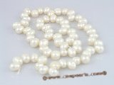 sds01 5 strands nature white 6-7m side-dirlled pearls