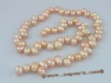 sds02 five strands nature pink 6-7m side-dirlled pearls