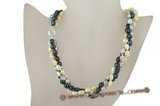Tpn124 Outlet designer 8-9mm long drilled nugget pearl discount twisted necklace
