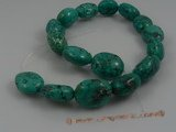 tqs001 21*25mm oval shape turquoise strand wholesale, 16""