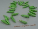 "tqs006 green capsicum shape turquoise strands wholesale, 16""in l"