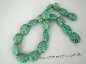 "tqs008 13*22mm blue oval turquoise strands wholesale, 16""in leng"