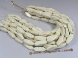 "tqs009 13*30mm white faceted turquoise strands wholesale, 16""in length"