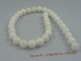 "ts001 12mm white round Deep sea tridacna beads strands,16""in length"