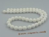 "ts005 10mm white round Deep sea tridacna beads strands,16""in length"