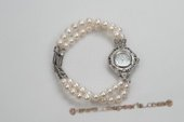 Wbr110 Hand knotted 6-7mm Potato Pearl Watch Bracelet