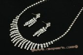 Wnset004 Hand-crafted Stunning Sparkle Rhinestone Jewelry Set
