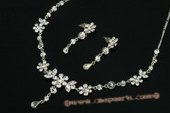Wnset011 Gorgeous floral design Rhinestone bridal jewelry set