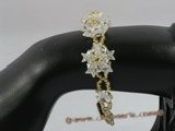 zbr024 Handcraft white layer flower star shape Zircon Bracelet