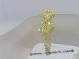 zbr026 Handcraft yellow layer flower star shape Zircon elastic Bracelet