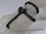 zbr029 Black faceted crystal bracelet/necklace in wholesale